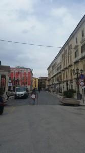 Piazza Pepe chiusa al traffico