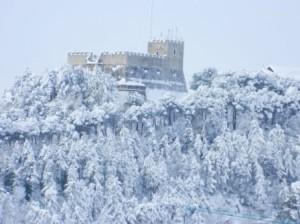 Un immagine della neve a Campobasso di marzo 2015