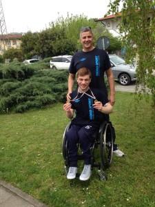 Pompeo con l'allenatore Antonio Cucoro