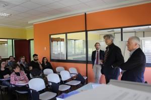 il saluto del direttore sanitario Romoli e del vice presidente della Fondazione Neuromed Cavaliere