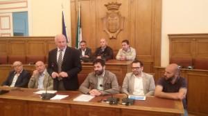 La conferenza stampa della commissione 'Statuto'