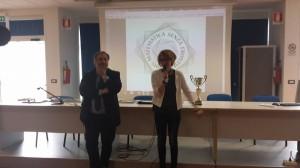 La Dirigente Scolastica del 'Romita', Anna Gloria Carlini, e l'assessore regionale Pierpaolo Nagni