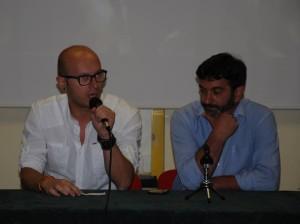 Davide Vitiello e il sindaco di Oratino, Luca Fatica