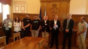 La conferenza stampa a Palazzo San Giorgio
