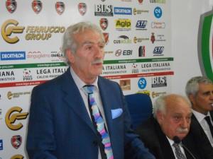 Ferruccio Capone ai tempi della presidenza del Campobasso Calcio