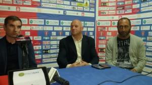 Il tecnico Cappellacci col sindaco Battista e il presidente Perrucci