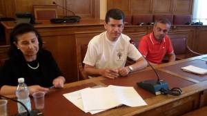 L'assessore de Capoa, il professor Musacchio e il consigliere comunale Montanaro