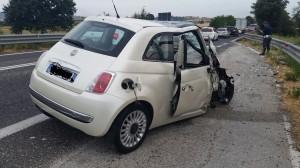 La Fiat 500 coinvolta nel frontale