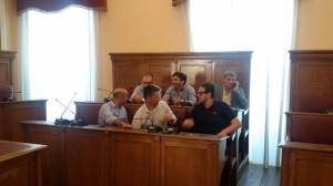 I sindaci presenti alla conferenza stampa a Palazzo San Giorgio
