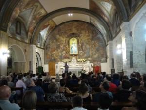Il Santuario della Madonna dei Monti durante la visita