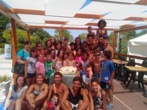 I ragazzi del Campus estivo di Riccia insieme con il sindaco Micaela Fanelli