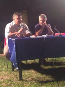 Il giornalista Vincenzo Cimino e lo scrittore Giulio Laurenti