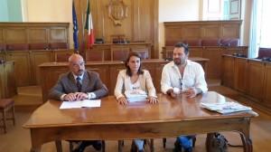 Francesco Pilone, Marialaura Cancellario e Alberto Tramontano in conferenza stampa