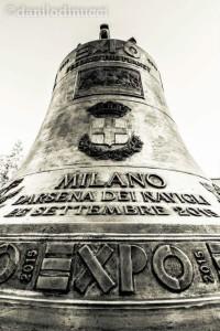 La campana forgiata per 'Il Giorno del Fuoco', l'evento di Expo 2015 (foto gentilmente concessa da Danilo Di Nucci)