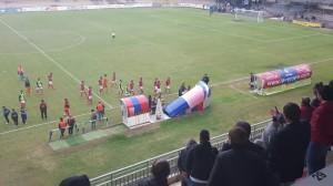 Il Campobasso rientra mestamente negli spogliatoi dopo la sconfitta per mano del Chieti