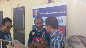 Il tecnico Cappellacci durante la conferenza stampa a Ripalimosani