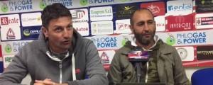 L'allenatore Roberto Cappellacci e il direttore sportivo Antonio Minadeo