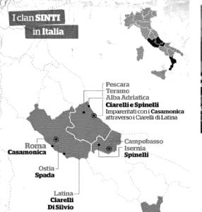 I clan Sinti in Italia