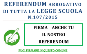 Il manifesto della raccolta firme per il referendum abrogativo