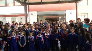 L'inaugurazione dell'anno scolastico nella scuola elementare di San Giuliano di Puglia
