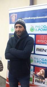 L'allenatore Cappellacci prima della partenza per Castelfidardo
