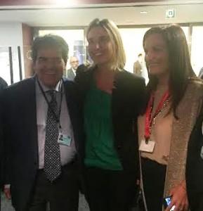Bianco, Mogherini e il segretario del Partito Democratico, Fanelli