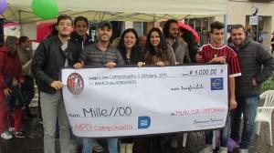 Il Milan Club ha donato mille euro all'AIPD