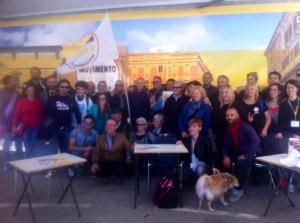 I simpatizzanti molisani del Movimento 5 Stelle al raduno di Imola