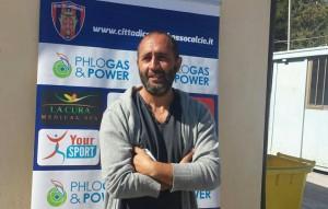 L'allenatore Roberto Cappellacci durante la conferenza stampa pre-partita