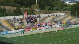 I tifosi del Campobasso presenti al 'Bonolis' di Teramo