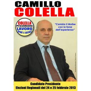 Camillo Colella nel febbraio 2013 è stato candidato alla Presidenza della Giunta regionale del Molise