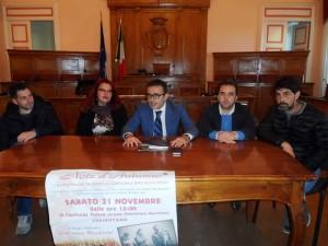 La presentazione dell'evento a Palazzo San Giorgio: con l'assessore Colagiovanni, Balilla, Socci, Maroncelli e Mitro
