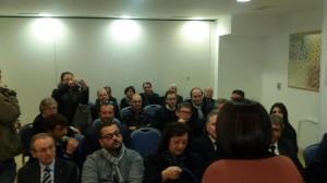 I simpatizzanti azzurri presenti alla prima uscita pubblica in Molise di Nunzia De Girolamo
