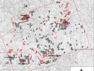 Le zone dove potrebbe sorgere l'insediamento petrolifero
