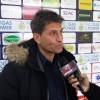 L'allenatore Massimiliano Favo durante la conferenza stampa prima della gara di Giulianova
