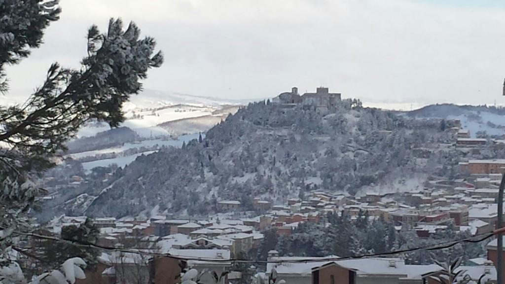 Una veduta di Campobasso con la neve (foto gennaio 2016)