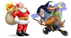 Babbo Natale e la Befana, due miti intramontabili per i più piccini
