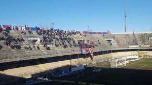 I tifosi in Curva Nord nella partita contro la Jesina