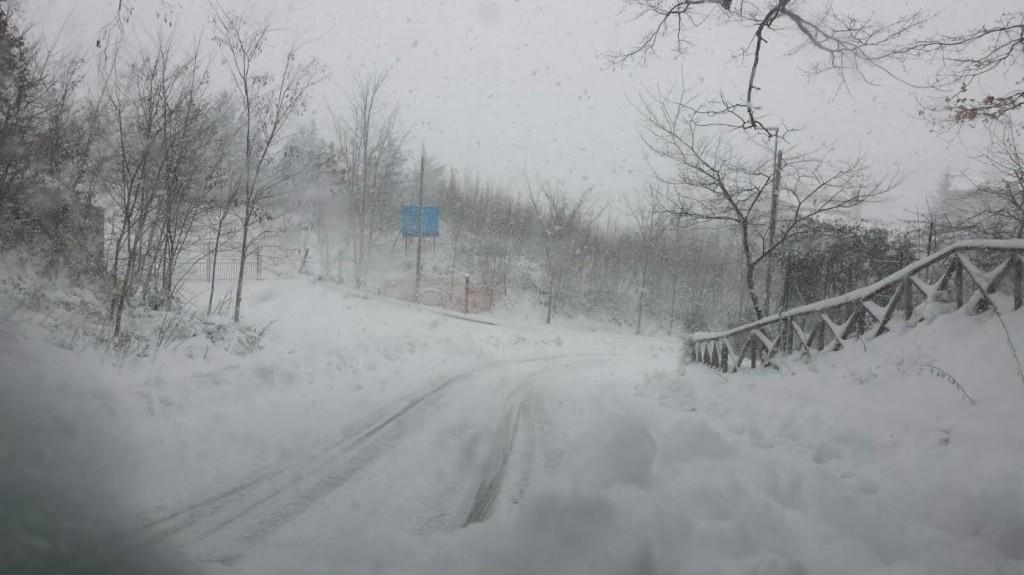 La strada tra Ferrazzano e Campobasso
