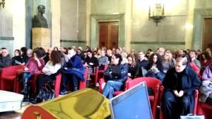 La platea di giornalisti presenti a Pescara