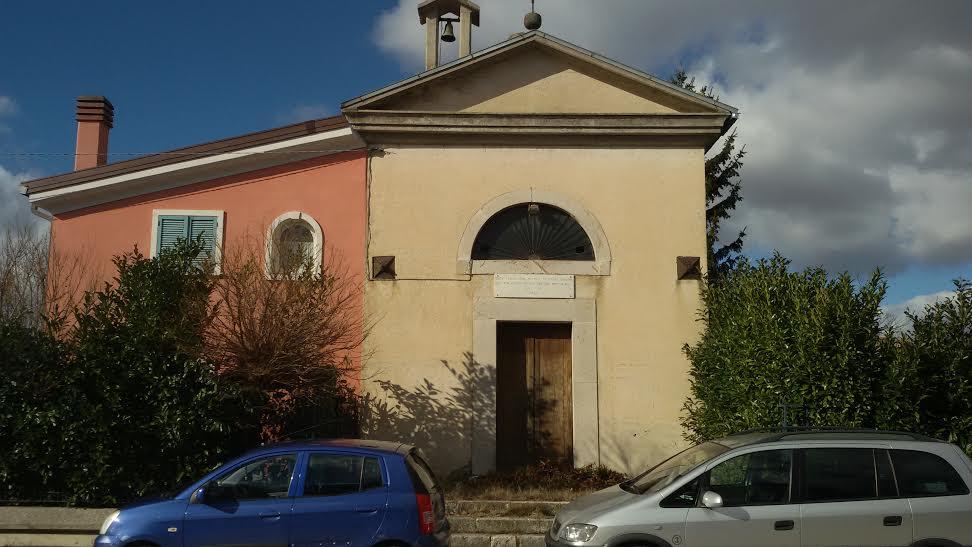 La Chiesa chiusa da un paio di anni e di proprietà della famiglia Barone