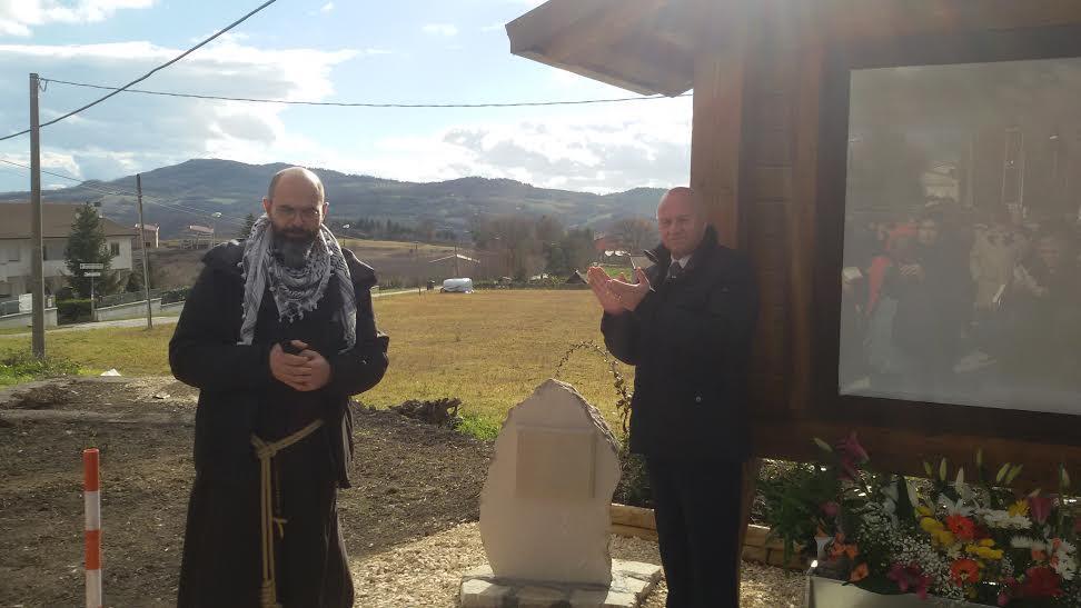 Il sindaco Battista e Fra Giovanni