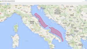 Le aree del Mar Adriatico interessate dalle trivellazioni