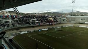 La Curva Nord nella partita contro il San Nicolò