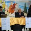 L'assessore Emma de Capoa con Vincenzo Musacchio e il dirigente scolastico Pasquale Grassi