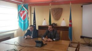 L'ormai ex direttore generale dell'Asrem, Pirazzoli, e il governatore Frattura