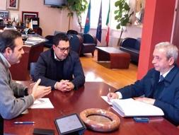 Il governatore Frattura, il deputato Leva e il senatore Ruta