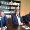 Il professor Pardini tra i giornalisti Trapani e Lupo