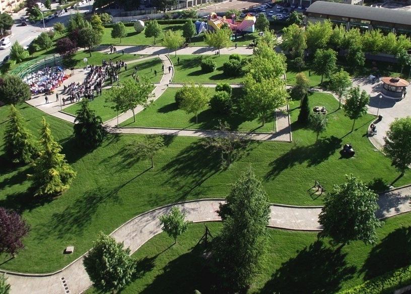 Il Parco San Giovanni visto dall'alto