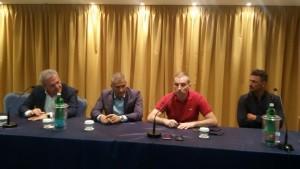Il tecnico Novelli e i dirigenti Perrucci, Aliberti e Minadeo